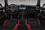 Stock photo of straight dashboard view of a 2017 Mini MINI John Cooper Works 3 Door Hatchback