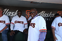 SAN FRANCISCO, CA - AUGUST 11:  Former San Francisco Giants manager Dusty Baker laughs in the dugout before a ceremony honoring the 1989 Giants during a 30 year team reunion before the game between the Philadelphia Phillies and San Francisco Giants at Oracle Park on Sunday, August 11, 2019 in San Francisco, California. (Photo by Brad Mangin)