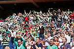 Tranmere Rovers 1 Forest Green Rovers 3, 14/05/2017. Wembley Stadium, Conference play off Final. Forest Green fans celebrate their teams first goal during the Vanarama Conference play off Final  between Tranmere Rovers v Forest Green Rovers at the Wembley. Photo by Paul Thompson.