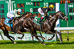 JULY 18, 2020 : Aquaphobia with Joe Bravo aboard, wins the Grade 1 United Nations Stakes, going 1 3/8 mile on turf, at Monmouth Park, Elmont, NY.  Sue Kawczynski/Eclipse Sportswire/CSM