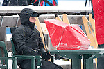 MARTELL-VAL MARTELLO, ITALY - FEBRUARY 02: Judge during the Women 7.5 km Sprint at the IBU Cup Biathlon 6 on February 02, 2013 in Martell-Val Martello, Italy. (Photo by Dirk Markgraf)