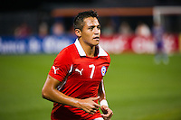 Alexis Sanchez (7) of Chile. Ecuador defeated Chile 3-0 during an international friendly at Citi Field in Flushing, NY, on August 15, 2012.