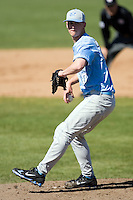 Garrett Davis (20) of the North Carolina Tar Heels in action versus the St. John's Red Storm at the 2008 Coca-Cola Classic at the Winthrop Ballpark in Rock Hill, SC, Sunday, March 2, 2008.