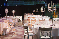 September 10, 2014,Netherlands, Amsterdam, Ziggo Dome, Davis Cup Netherlands-Croatia, Prepairing for the official diner<br /> Photo: Tennisimages/Henk Koster