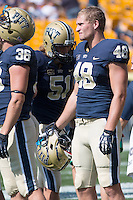 Pitt linebacker Zach Poker. The Pitt Panthers defeated the Virginia Cavaliers 14-3 at Heinz Field, Pittsburgh, PA on Saturday, September 28, 2013.