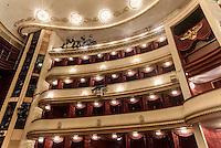 Logenplätze und Hofloge im Burgtheateram Universitätsring  in Wien, Österreich, UNESCO-Weltkulturerbe<br /> box seats and court box, Burgtheater, Vienna, Austria, world heritage