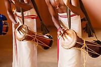 Asia, India,Kerala, Cheruthuruthy, Kalamandalam dance school founded by the poet Padmabhooshan Vallathol Narayana Menon, Panchavadyam drum