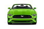 Car photography straight front view of a 2020 Ford Mustang EcoBoost-Premium 2 Door Convertible Front View