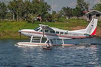 Hidroaviao no Rio Solimoes. Municipio de Manacapuru. Amazonas. 2008. Foto de Ubirajara Machado.