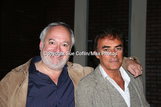 "Director Roy Steinberg (on Days, GL and AMC and was on Another World) poses with Days of Our Lives and Mission Impossible star Thaao Penghlis ""Tony DiMera"" & General Hospital ""Victor Cassadine"" presents Journeys on May 24, 2010 at the Cape May Stage, Cape May, New Jersey. It is a show telling about his traveling the world from Macchu Picchu to the jungles of the Amazon, throughout the Middle East, Greece and Italy. His greatest joy is exploing Egypt and its unsolved mysteries and climbing Mr. Sinai. Became an actor to find journeys - mysteries bringing the unknown to the world - mission possible. In your journeys don't hurry, make it last forever and make it a wise experience. (Photos by Sue Coflin/Max Photos)"