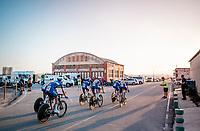 Team Deceuninck-Quickstep on their way to the stage start in Torrevieja <br /> <br /> Stage 1 (TTT): Salinas de Torrevieja to Torrevieja (13.4km)<br /> La Vuelta 2019<br /> <br /> ©kramon