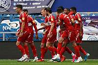 Middlesbrough players celebrate their sides opening goal<br /> <br /> Photographer Stephanie Meek/CameraSport<br /> <br /> The EFL Sky Bet Championship - Queens Park Rangers v Middlesbrough - Saturday 26th September 2020 - Loftus Road - London <br /> <br /> World Copyright © 2020 CameraSport. All rights reserved. 43 Linden Ave. Countesthorpe. Leicester. England. LE8 5PG - Tel: +44 (0) 116 277 4147 - admin@camerasport.com - www.camerasport.com