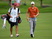 June 30, 2013  (Bethesda, Maryland)  Jordan Spieth walks to his ball on 9th green as he prepares for his second shot at the hole during to AT&T National.  (Photo by Don Baxter/Media Images International)