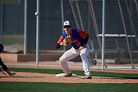 Tony Roca during the Under Armour All-America Pre-Season Tournament, powered by Baseball Factory, on January 19, 2019 at Fitch Park in Mesa, Arizona.  Tony Roca is a first baseman / left handed pitcher from Ponte Vedra Beach, Florida who attends Ponte Vedra High School and is committed to North Florida.  (Mike Janes/Four Seam Images)