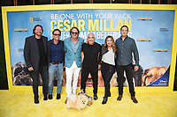 """LOS ANGELES - JULY 30:  Jason Garnett, Lyle Smith, David Leepson, Cesar Millan, Jane Mun and Roger Roddy attend the premiere event for National Geographic's """"Cesar Millan: Better Human, Better Dog"""" at the Westfield Century City Mall Atrium on July 30, 2021 in Los Angeles, California. (Photo by Stewart Cook/National Geographic/PictureGroup)"""