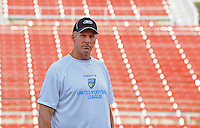 Jun. 13, 2009; Las Vegas, NV, USA; Orlando head coach Jim Haslett during the United Football League workout at Sam Boyd Stadium. Mandatory Credit: Mark J. Rebilas-