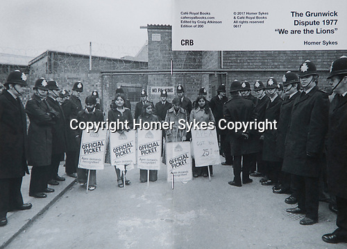 """The Grunwick Dispute 1977 """"We are the Lions"""". Cafe Royal Books<br /> <br /> £15-00 including p&p in UK"""