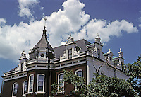 St. Louis: House on corner of Missouri and Lafayette. Now a funeral home. Chateau style. Photo '78.