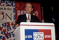 FILE - Daniel Johnson, durant la campagne du NON au referendum, le 24 Octobre 1995