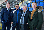 St Johnstone v Hamilton Accies…26.10.19   McDiarmid Park   SPFL<br />Former players with their manager, from left, Roddy Grant, Danny Griffin, Paul Sturrock and Philip Scott<br />Picture by Graeme Hart.<br />Copyright Perthshire Picture Agency<br />Tel: 01738 623350  Mobile: 07990 594431