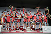 TTT winners Team BMC on the podium<br /> <br /> 12th Eneco Tour 2016 (UCI World Tour)<br /> stage 5 (TTT) Sittard-Sittard (20.9km) / The Netherlands