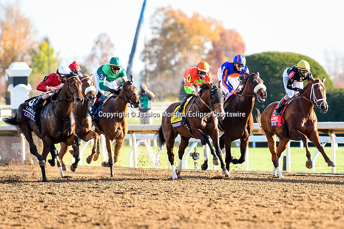 November 7, 2020 : Horses Race during the Longines Distaff on Breeders' Cup Championship Saturday at Keeneland Race Course in Lexington, Kentucky on November 7, 2020. Jessica Morgan/Breeders' Cup/Eclipse Sportswire/CSM