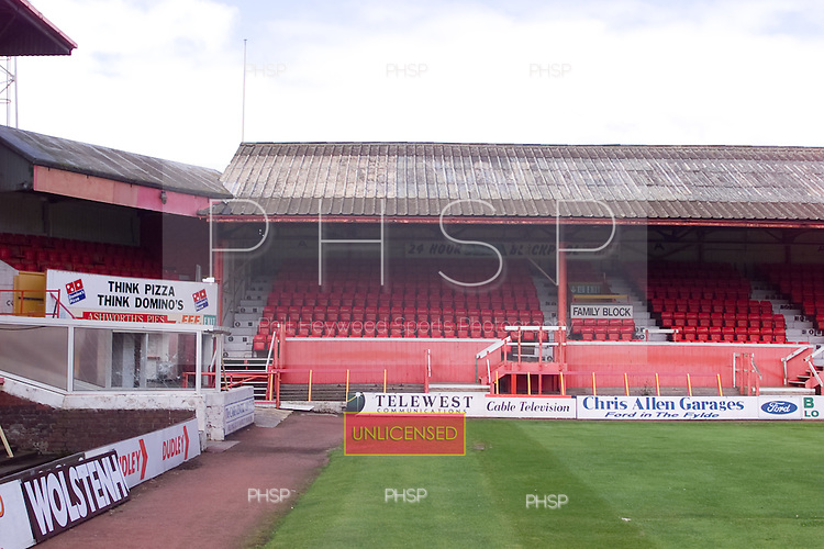23/06/2000 Blackpool FC Bloomfield Road Ground..west stand, south section.....© Phill Heywood.