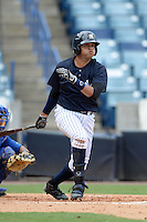 New York Yankees outfielder Mason Williams (75) during an Instructional League game against the Toronto Blue Jays on September 24, 2014 at George M. Steinbrenner Field in Tampa, Florida.  (Mike Janes/Four Seam Images)