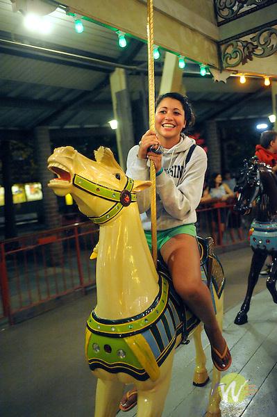 Knoebels Grove Amusement Park, Elysburg, PA. Grand Carousel