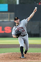 Quad Cities River Bandits starting pitcher Asa Lacy (39) delivers a pitch during a game against the Wisconsin Timber Rattlers on July 8, 2021 at Neuroscience Group Field at Fox Cities Stadium in Grand Chute, Wisconsin.  (Brad Krause/Four Seam Images)