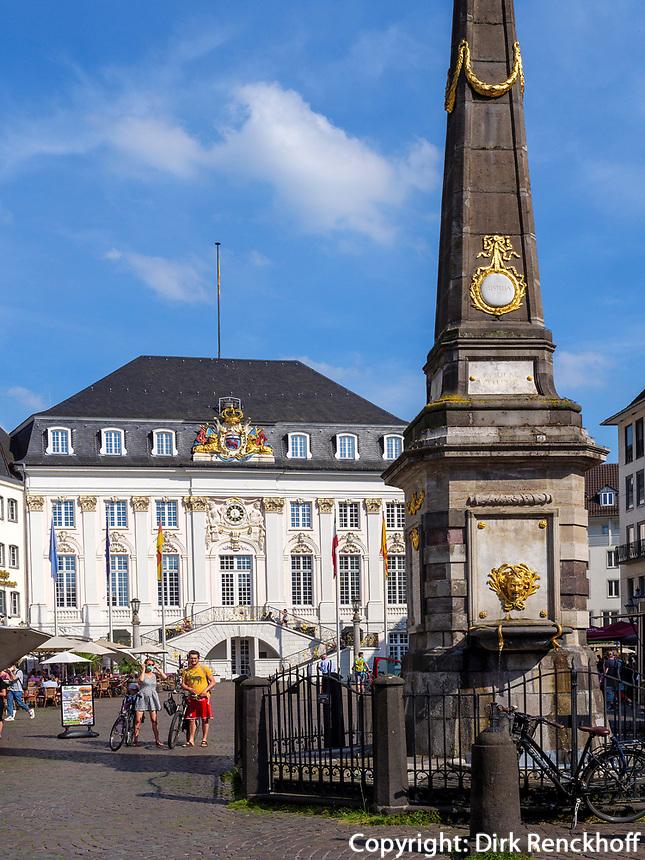 Marktplatz, Altes Rathaus, Bonn, Nordrhein-Westfalen, Deutschland, Europa<br /> Market place, Old townhall, Bonn, North Rhine-Westphalian, Germany, Europe