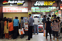 Pizza Hut and Subway at the food court in Madras, India