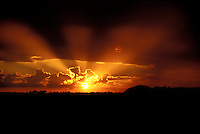 Sun ray landscape
