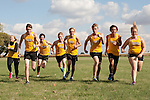 October 17, 2013- Tuscola, IL- The 2013 Tuscola Warrior Cross Country Seniors. From left are Nicole Mannen, Chandler Kerns, Phillip Spillman, John Evans, Nick Kemp, Kyle Pugh, Chas Campbell, and Allison Murawski. (Not Pictured: Broc Smith) [Photo: Douglas Cottle]