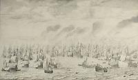 The Battle of Terheide, Willem van de Velde (I), 1657