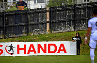 Action from the ISPS Handa Premiership football match between Team Wellington and Hawkes Bay United at David Farrington Park in Wellington, New Zealand on Saturday, 21 November 2020. Photo: Dave Lintott / lintottphoto.co.nz