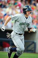 Cedar Rapids Kernels shortstop Eric Stamets #1 during a game against the Quad Cities River Bandits at Modern Woodmen Park on June 30, 2012 in Davenport, Illinois.  Quad Cities defeated Davenport 8-7.  (Mike Janes/Four Seam Images)