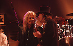 Vince Neil of Motley Crue & Tom Peterson of Cheap Trick in Los Angeles 1988.