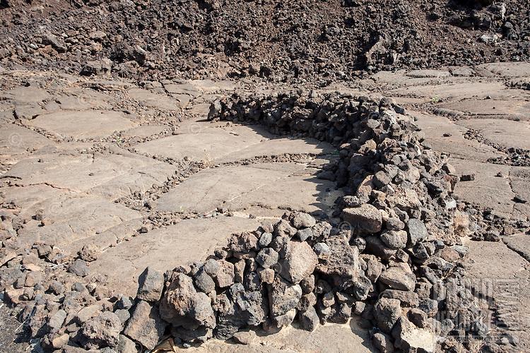 Rock shelter at the Waikoloa Petroglyph Field (a.k.a. 'Anaeho'omalu Petroglyph Field), Big Island.