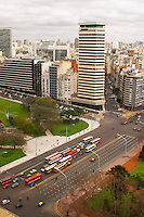 Bird's eye view over the city skyline. modern apartment and office buildings in the Retiro and Recoleta part of the city. Buenos Aires Argentina, South America