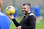 St Johnstone Training....   Manager Callum Davidson pictured during training at McDiarmid Park ahead of Saturday's game against Rangers.<br />Picture by Graeme Hart.<br />Copyright Perthshire Picture Agency<br />Tel: 01738 623350  Mobile: 07990 594431