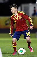 Spain's Alberto Moreno during an International sub21 match. March 21, 2013.(ALTERPHOTOS/Alconada) /NortePhoto