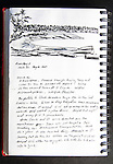 Sucia Island, San Juan Islands, Echo Bay, Journal Art 2009, ink on paper,