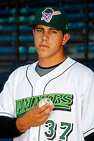 Jamestown Jammers Jose Fernandez #37, the Marlins first round draft choice, poses for a photo before a game against the Mahoning Valley Scrappers at Russell E. Diethrick Jr Park on September 2, 2011 in Jamestown, New York.  Mahoning Valley defeated Jamestown 8-4.  (Mike Janes/Four Seam Images)