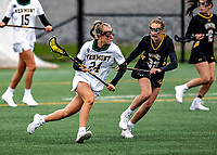 17 April 2021: University of Vermont Catamount Midfielder Meghan O'Connor, a Freshman from Queensbury, NY, in action against the UMBC Retrievers at Virtue Field in Burlington, Vermont. The Lady Cats fell to the Retrievers 11-8 in the America East Women's Lacrosse matchup. Mandatory Credit: Ed Wolfstein Photo *** RAW (NEF) Image File Available ***