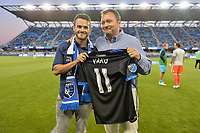 San Jose, CA - Monday July 10, 2017: Valeri 'Vako' Qazaishvili, Jesse Fioranelli during a U.S. Open Cup quarterfinal match between the San Jose Earthquakes and the Los Angeles Galaxy at Avaya Stadium.