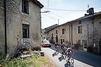 the chaser trio<br /> <br /> Stage 19 from Bourg-en-Bresse to Champagnole (167km)<br /> <br /> 107th Tour de France 2020 (2.UWT)<br /> (the 'postponed edition' held in september)<br /> <br /> ©kramon