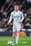 Toni Kroos of Real Madrid in action during the UEFA Champions League 2017-18 Round of 16 (1st leg) match between Real Madrid vs Paris Saint Germain at Estadio Santiago Bernabeu on February 14 2018 in Madrid, Spain. Photo by Diego Souto / Power Sport Images