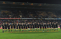 The All Blacks line up before the Steinlager Series rugby match between the New Zealand All Blacks and Tonga at Mt Smart Stadium in Auckland, New Zealand on Saturday, 3 July 2021. Photo: Dave Lintott / lintottphoto.co.nz