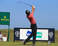 18th July 2021; Royal St Georges Golf Club, Sandwich, Kent, England; The Open Championship,  Golf, Day Four; Corey Conners (CAN) at the par three 6th hole